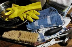 Cleaning supplies we use for cleaning maintenance in Edmonton